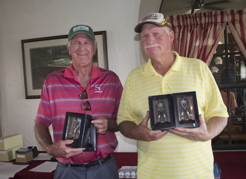 Second place winners are Bob McGraw, left and Frank Fortner with John Goss and Al Abrams not pictured.