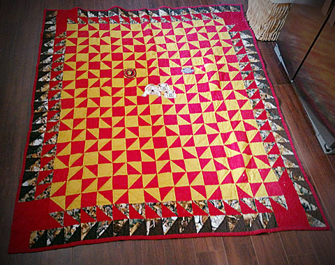 One of a kind handmade quilt by